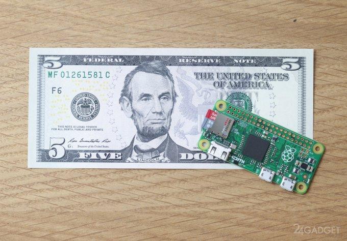 Raspberry Pi выпустила 5-долларовый одноплатный компьютер (видео)