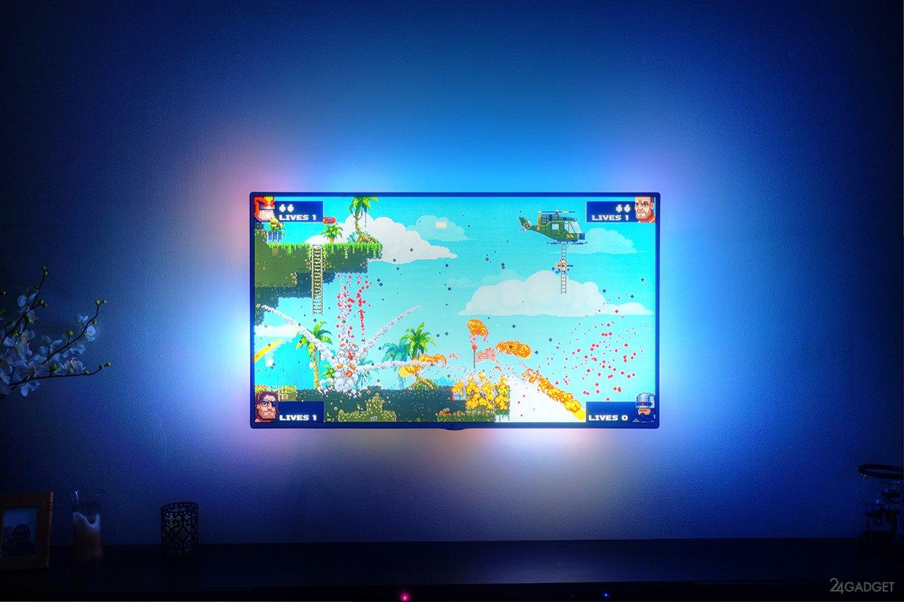 Самодельная фоновая подсветка телевизора от USB 9