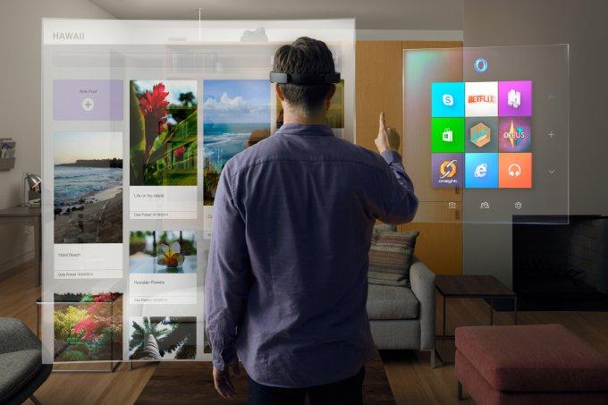 HoloLens - дополненная реальность без проводов в течение 5.5 часов (2 видео)