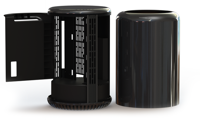 Компьютерный корпус в стиле Apple Mac Pro (7 фото + видео)