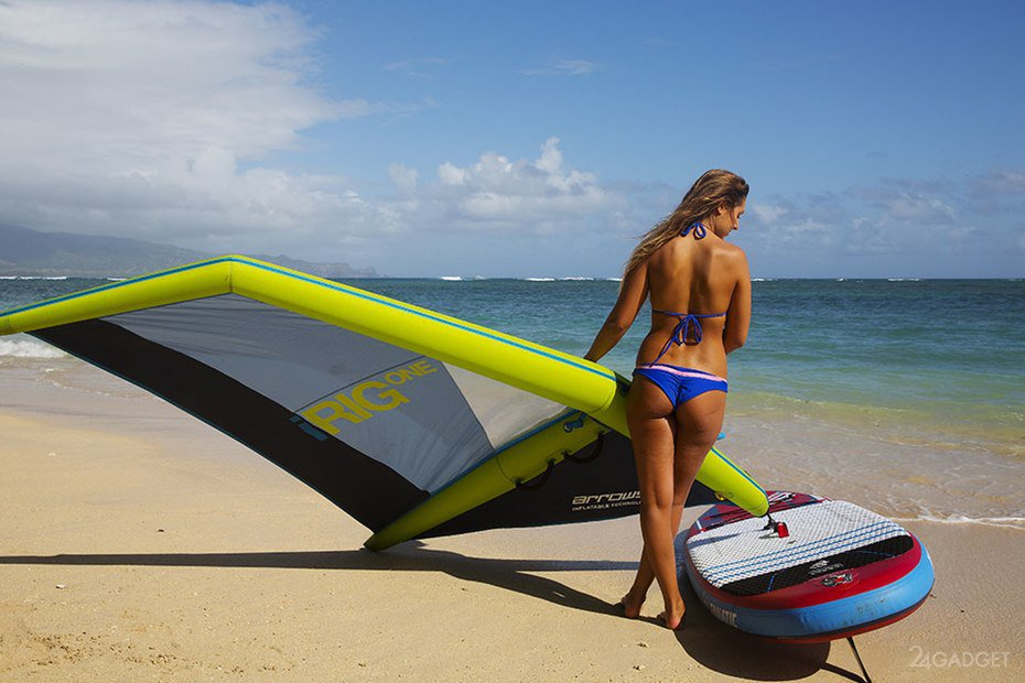 Inflatable windsurf