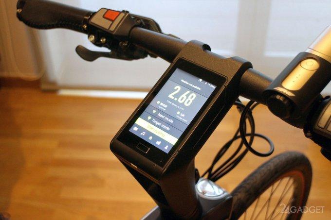 Первый в мире велосипед с лазерами и встроенной ОС Android (3 фото + видео)