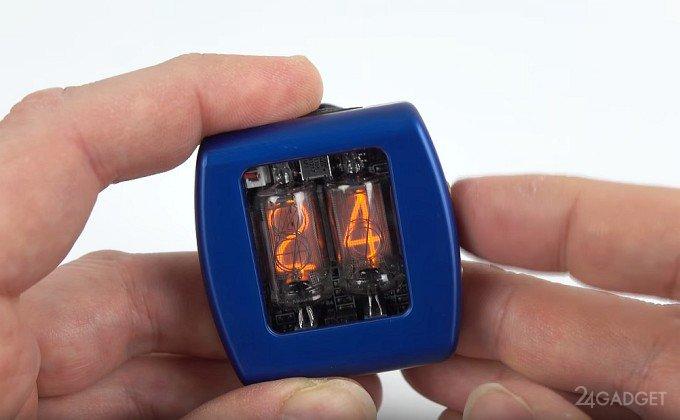 Наручные часы на газоразрядных индикаторах (6 фото + видео)