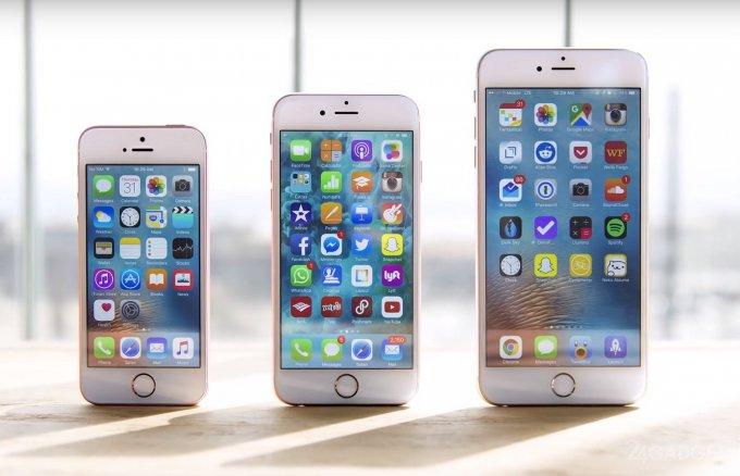 Выживаемость iPhone SE сравнили с iPhone 6s и iPhone 6s Plus (видео)