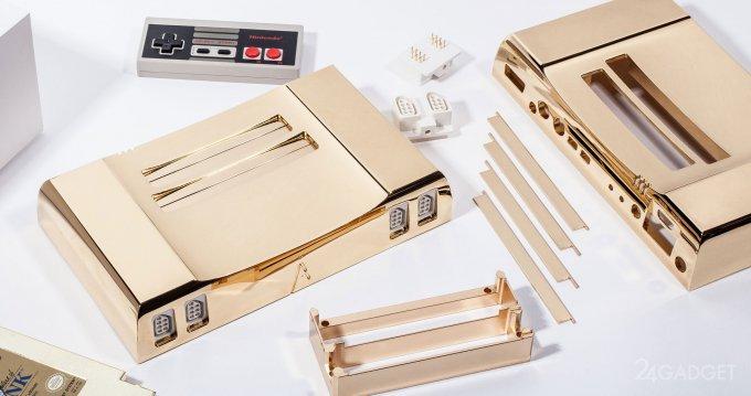 Эксклюзивная приставка NES из золота (3 фото)