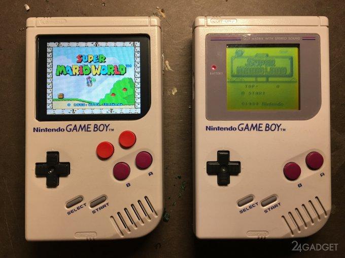 Модифицированный Game Boy запускает любые ретро-игры (8 фото + видео)