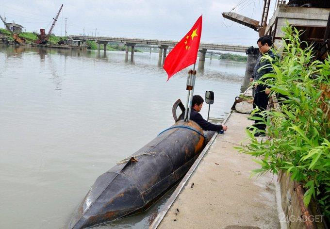 Китайский фермер построил собственную подлодку (7 фото)