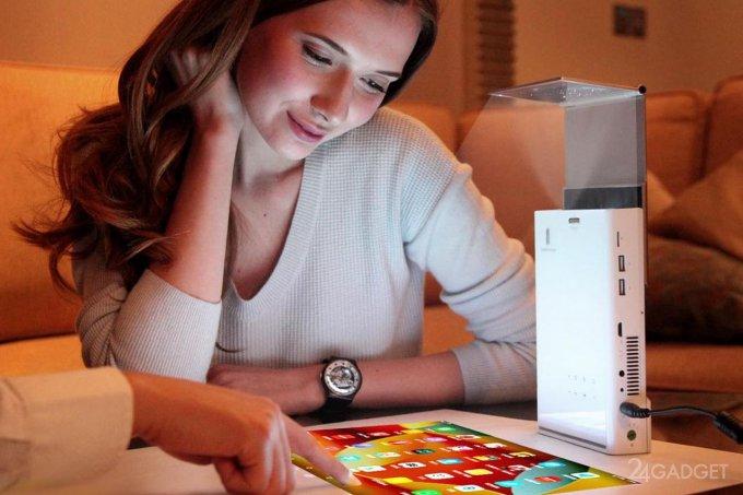 Проектор с функциями Andriod-планшета (5 фото + видео)