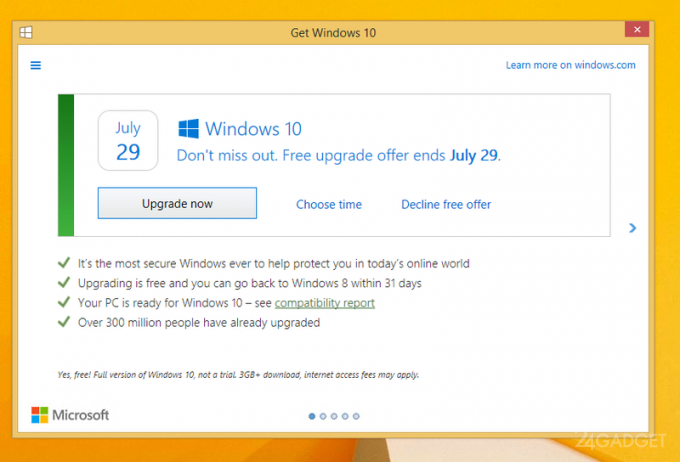 Microsoft меняет стратегию апдейта до Windows 10 (2 фото)