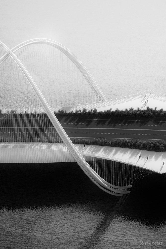 Амбициозный мост из олимпийских колец (26 фото)