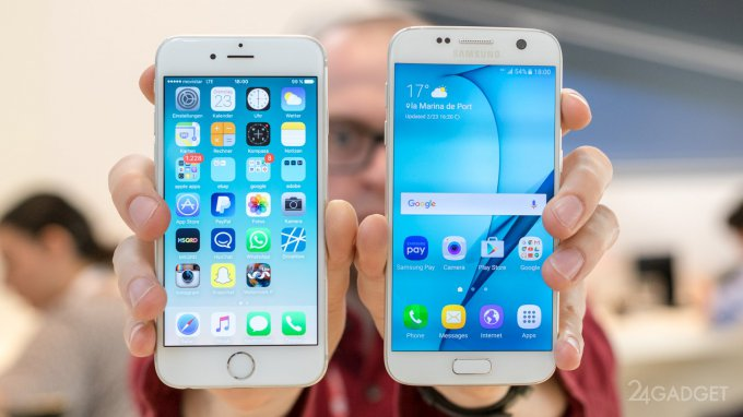 Samsung впервые обошёл Apple по продажам в США