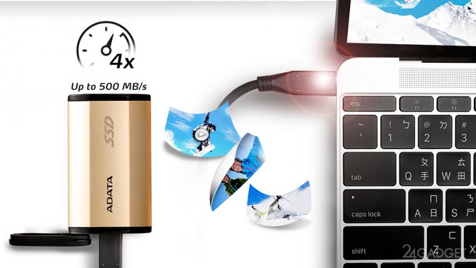Компактный SSD-накопитель с USB Type-C и надежным корпусом (7 фото)