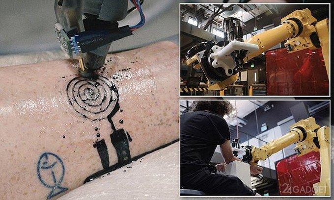 Первый в мире робот-татуировщик (3 фото + видео)