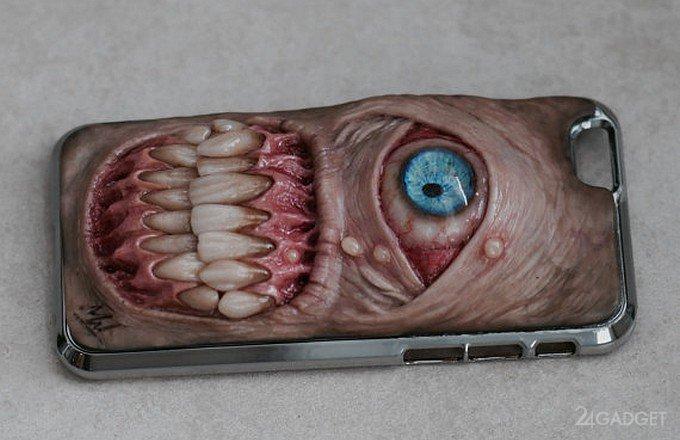 Отпугнет ли грабителя смартфон с чехлом-монстром ? (40 фото)