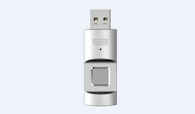 Elephone U-Disk — флешка со встроенным сканером отпечатка пальца