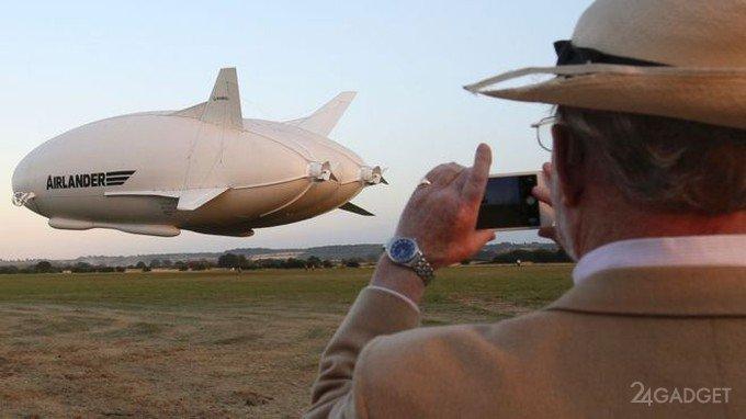 Гигантский дирижабль совершил свой первый полет (видео)