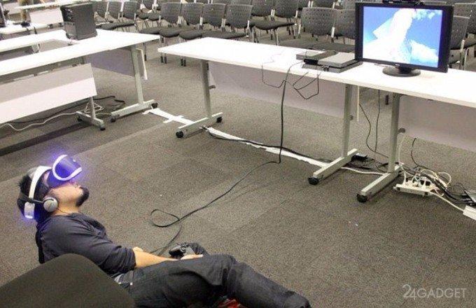 PlayStation VR позволит трогать виртуальных девушек (4 фото + видео)