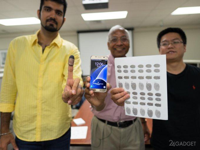 Samsung Galaxy S6 удалось разблокировать бумажной копией отпечатка пальца (3 фото + видео)
