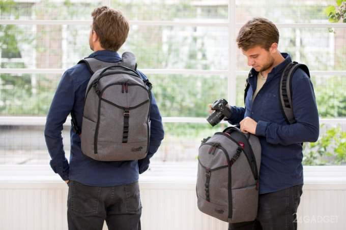 Рюкзак, который не нужно снимать, чтобы что-то достать (14 фото + видео)