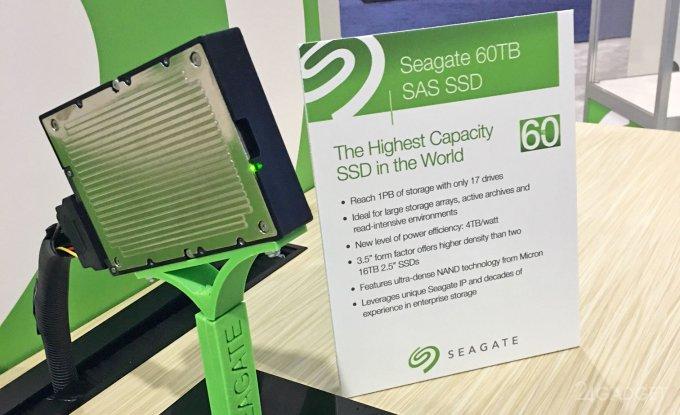 Seagate объявила о создании SSD-накопителя на 60 ТБ (2 фото)