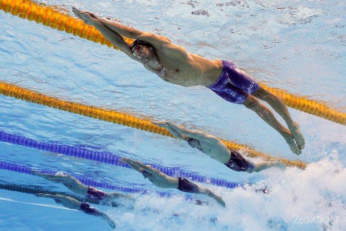 Подводную съемку олимпийских пловцов доверили роботу (8 фото + видео)