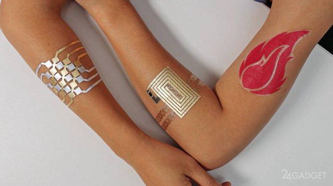 Созданы тату-тачпады для управления гаджетами (4 фото + видео)