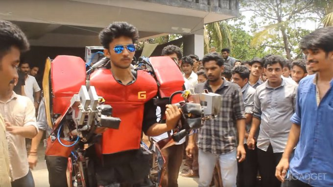 Индийский студент собрал экзоскелет Железного человека за $750 (3 видео)