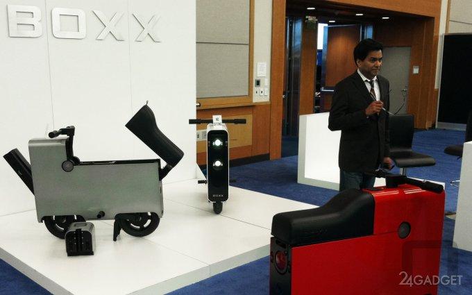 Boxx — прямоугольный электроскутер для города (11 фото)