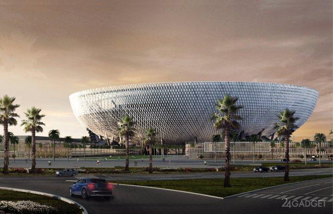 Крупнейший дубайский стадион построят в форме чаши (17 фото)