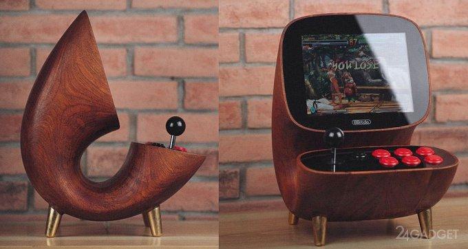 Настольный игровой автомат в ретро-дизайне (7 фото)