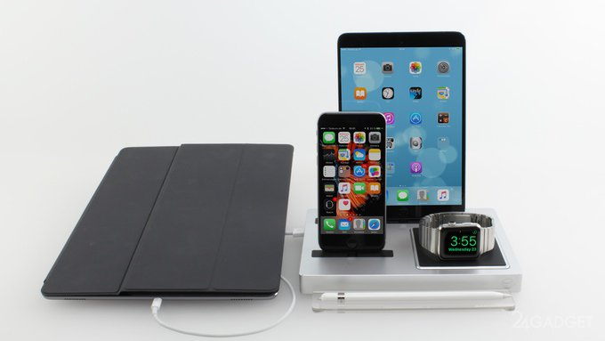 Док-станция для зарядки смартфонов, планшетов и носимой электроники (15 фото + видео)