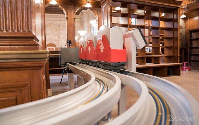 Нью-Йоркская публичная библиотека приобрела книжные поезда (12 фото + видео)