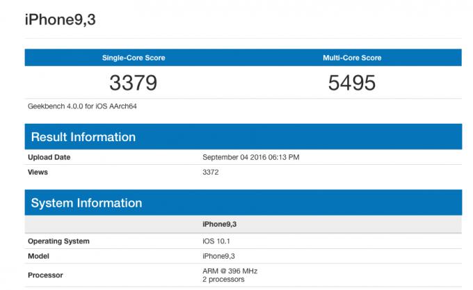 Неанонсированный iPhone засветился в базе данных Geekbench (2 фото)