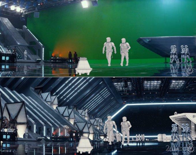 Вся мощь спецэффектов фильма Star Wars в одном ролике
