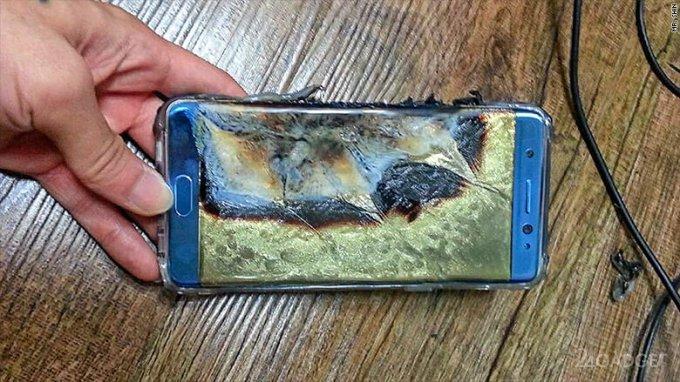 Названы причины возгорания Samsung Galaxy Note 7
