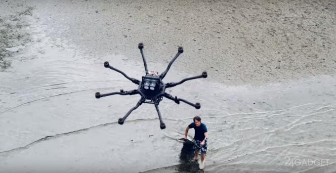 Сёрфинг с дроном (видео)