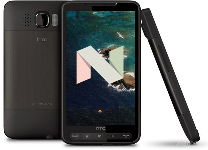 """""""Старинный"""" смартфон HTC HD2 получил свежайшую версию Android Nougat"""