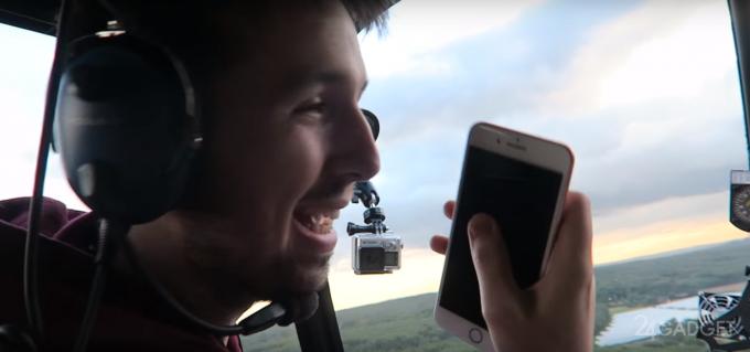 Вот и первые краш-тесты: iPhone 7 сбросили с вертолёта (видео)