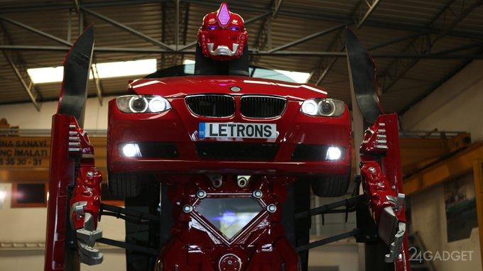 Из BMW сделали настоящего трансформера (2 видео)