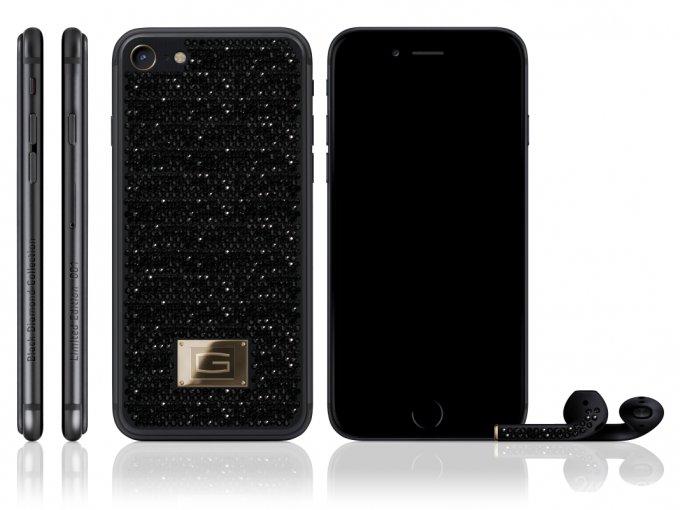 Эксклюзивный iPhone 7 с черными бриллиантами (4 фото)