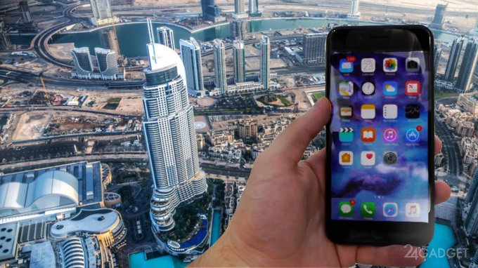 iPhone 7 Plus скинули с самого высокого здания мира (видео)