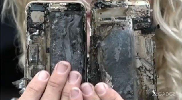 В Австралии iPhone 7 спалил автомобиль (4 фото + видео)