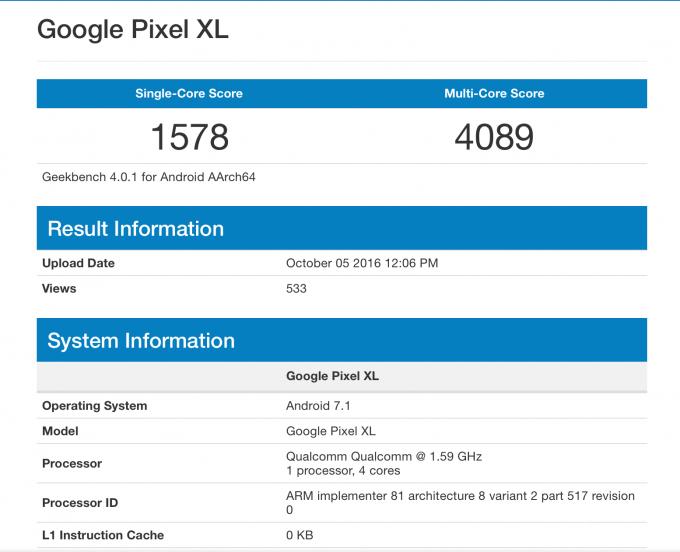 iPhone 7 превзошёл Pixel XL в тестах производительности (2 фото)