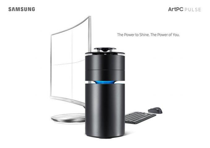 Samsung ArtPC Pulse - десткоп в цилиндрическом корпусе (5 фото)