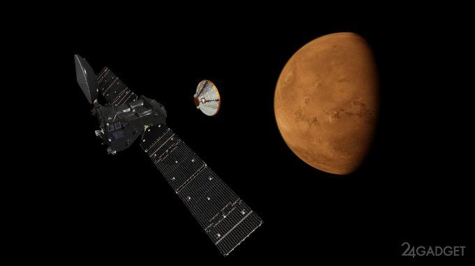 Модуль Schiaparelli молчаливо достиг поверхности Марса (2 фото + 2 видео)