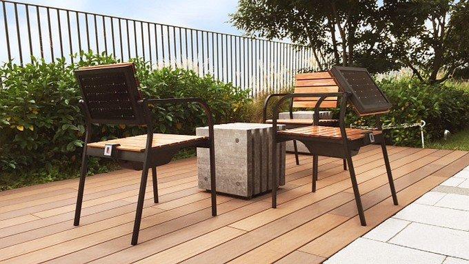 Кресло с солнечной панелью от Sharp (3 фото)