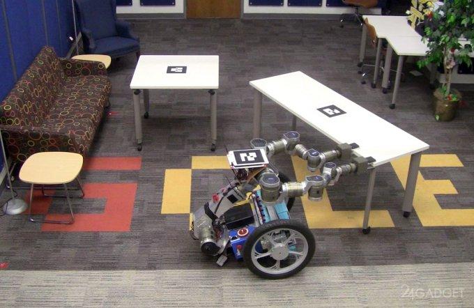 Не стой на пути - робот самостоятельно расчищает себе путь (3 видео)