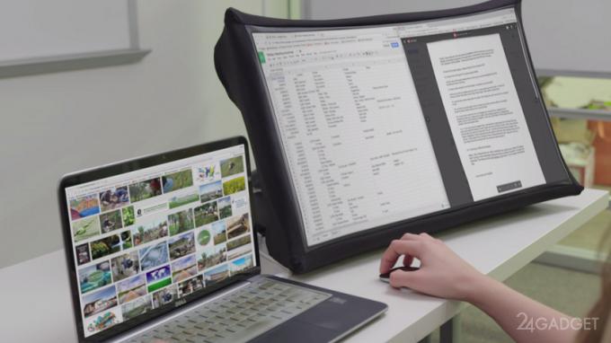Складной 24-дюймовый дисплей SPUD умещается в портфель (9 фото + видео)