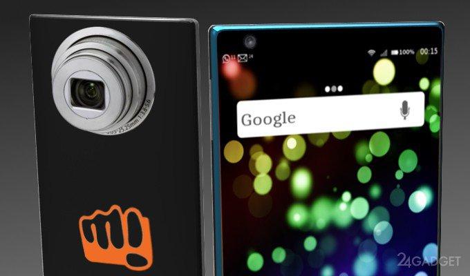 Безрамочный камерофон от Micromax (2 фото)