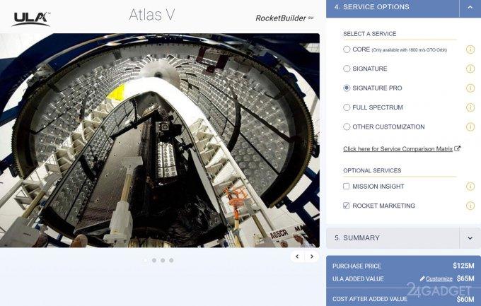 Открыт ресурс для заказа ракеты (3 фото)